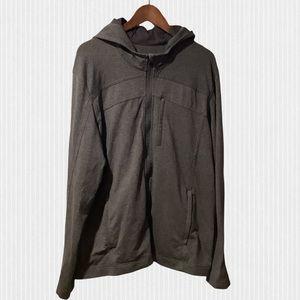 Lululemon Dark Grey Luon Full Zip Hoodie Jacket XL